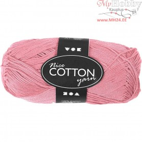 Mercerized Cotton Yarn, L: 165 m,  6S/4 , light red, 50g