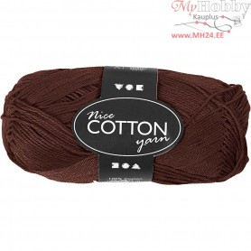 Mercerized Cotton Yarn, L: 165 m,  6S/4 , brown, 50g