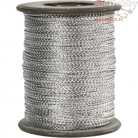 Thread, thickness 0,5 mm, silver, 100m