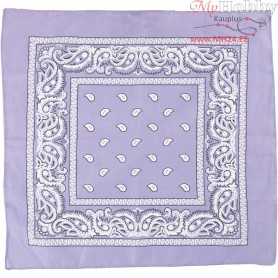 Printed Bandana, size 55x55 cm, purple, 1pc
