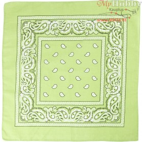 Printed Bandana, size 55x55 cm, green, 1pc