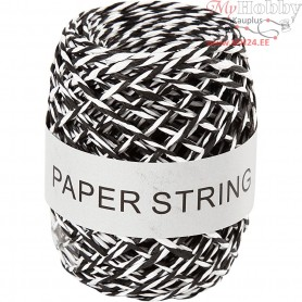 Paper Cord, thickness 1 mm, black/white, 50m