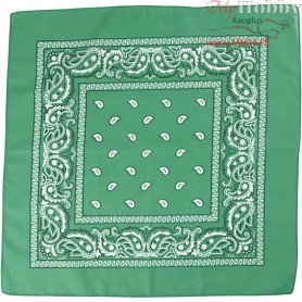Printed Bandana, size 55x55 cm, dark green, 1pc