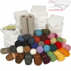 Needle Felting Kit - School Class Pack, 1set