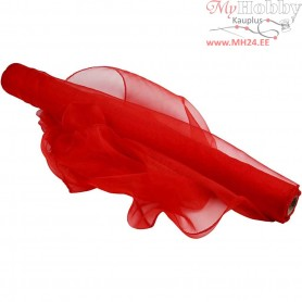 Organza Fabric, W: 50 cm, red, 10m