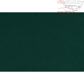Craft Felt, A4 21x30 cm, thickness 1,5-2 mm, dark green, 10sheets