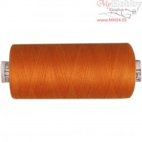 Sewing Thread, orange, cotton, 1000m
