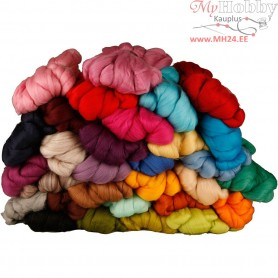 Merino Wool,  21 micron, asstd colours, South Africa / Australia, 32x100g