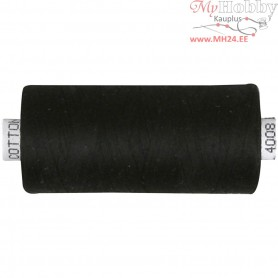Sewing Thread, black, cotton, 1000m