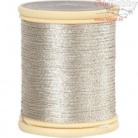 DMC Metallic Thread, thickness 0,36 mm, silver, 40m