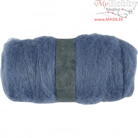 Carded Wool, sky-blue, 100g