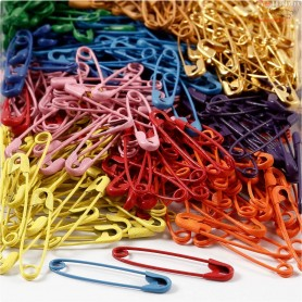 Safety Pins , L: 34 mm, thickness 0,8-1,00 mm, 10x100pcs