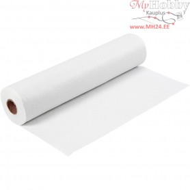 Craft Felt, W: 45 cm, thickness 1,5 mm, white, 5m, 180-200 g/m2