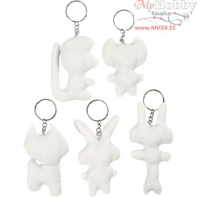 Fabric Figures, H: 6-10 cm, 5pcs