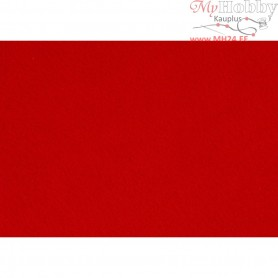 Craft Felt, A4 21x30 cm, thickness 1,5-2 mm, red, 10sheets