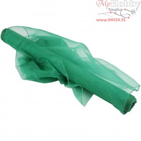 Organza Fabric, W: 50 cm, green, 10m