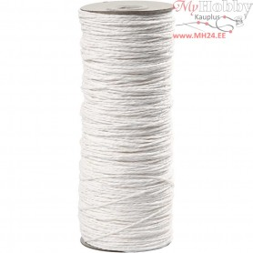 Paper Yarn, thickness 1,8 mm, L: 470 m, white, 250g