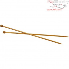 Knitting Needles, size 6 , L: 35 cm, 1pair
