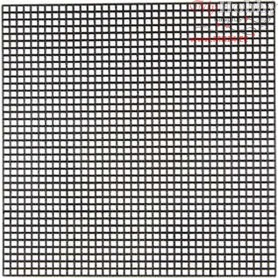 Cross Stitch Plastic, size 14x14 cm, hole size 3x3 mm, black, 5sheets