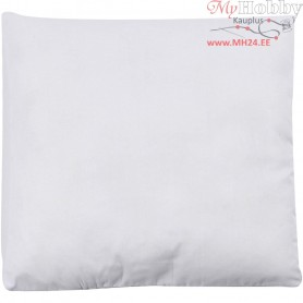 Stuffed Pillow, size 24x24 cm, white, 100 g polyester stuffing, 1pc