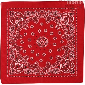 Printed Bandana, size 55x55 cm, red, 1pc