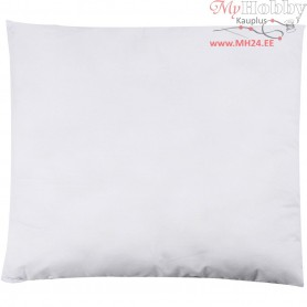 Stuffed Pillow, size 50x50 cm, white, 300 g polyester stuffing, 1pc