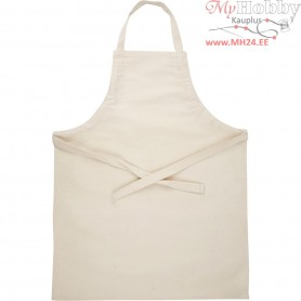 Apron, size 55x70 cm, natural, 1pc