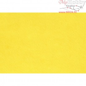 Craft Felt, A4 21x30 cm, thickness 1,5-2 mm, yellow, 10sheets