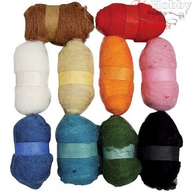 Carded Wool, 10x25g
