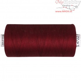 Sewing Thread, claret, cotton, 1000m