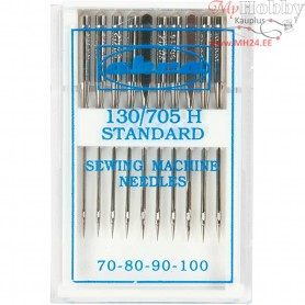 Sewing Machine Needles, size 70+80+90+100 , 10ass.
