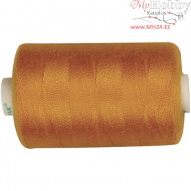 Sewing Thread, golden, polyester, 1000m