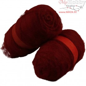 Carded Wool, warm red, 2x100g
