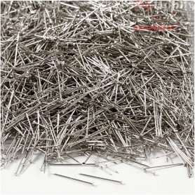 Straight Pins, L: 18 mm, thickness 0,3 mm, silver, 500g
