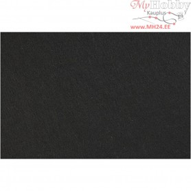 Craft Felt, sheet 42x60 cm, thickness 3 mm, black, 1sheet