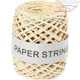 Paper Cord, thickness 1 mm, natural, 50m