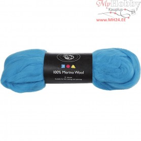 Merino Wool,  21 micron, turquoise, South Africa, 100g