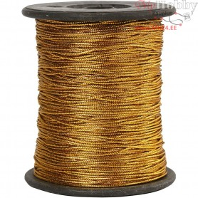 Thread, thickness 0,5 mm, gold, 100m