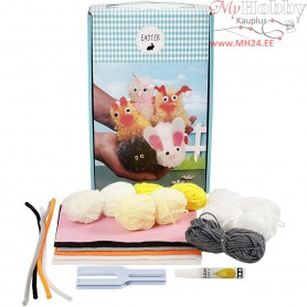 Easter Pom-pom Animal Kit, 1set