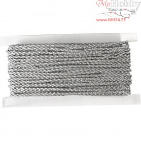 Cord, thickness 2 mm, silver, 5m