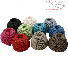 Paper Yarn, thickness 2,5-3 mm, approx. 42 m, 10x150g