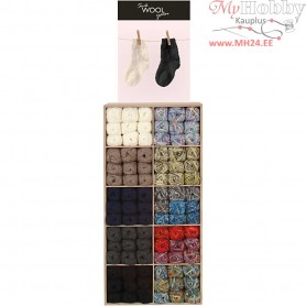 Sock Yarn, excluding display, 120sales units
