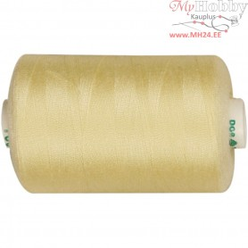 Sewing Thread, yellow, polyester, 1000m