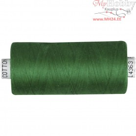 Sewing Thread, green, cotton, 1000m