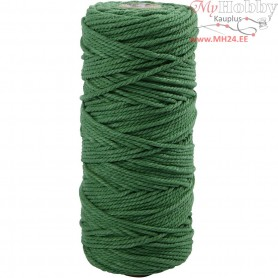 Cotton Twine, L: 100 m, thickness 2 mm, green, Thick quality 12/36, 225g