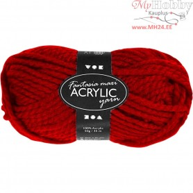 Fantasia Acrylic Yarn, L: 35 m, red, Maxi, 50g