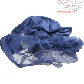 Cotton Gauze, W: 120-130 cm, blue, 5m
