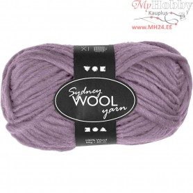 Sydney Yarn, L: 50 m, purple, 50g
