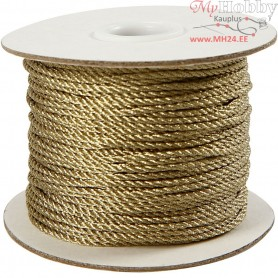 Cord, thickness 2 mm, gold, 50m