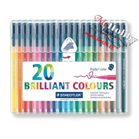 Viltpliiatsid Triplus® color 323- Staedtler 20 Brilliant Colours, joon : 1 mm, 20 värvi